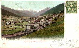 DAVOS PLATZ GEGEN DAS TINZERHORN  Suiza Switzerland Suisse Schweiz - GR Grisons