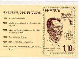 POSTE & FACTEURS 21 : Frédéric Joliot Curie 1900 - 1958 ; Carte Vendue De A P F ( Voir Le Dos ) - Poste & Facteurs