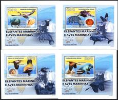 A{257} Guinea Bissau 2008 Birds Dugongs 4 S/S Deluxe MNH** - Guinea-Bissau
