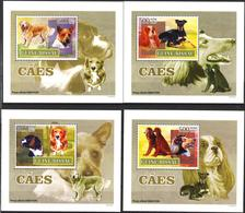 A{260} Guinea Bissau 2007 Dogs 4 S/S Deluxe MNH** - Guinea-Bissau
