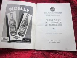 PAILLASSE JONGLEUR NOTRE DAME 1956 PROGRAMME THÉÂTRE NATIONAL OPÉRA COMIQUE DE PARIS-PUBS-PHOTOS COMÉDIEN ARTISTE-DANSE - Programmes