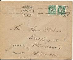 Norway Cover Sent To Denmark Stavanger 7-12-1912 - Norway