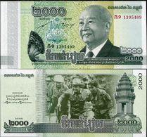 10 Pieces Cambodia 2000 Riel 2013 UNC - Cambodia