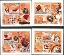 A{262} Guinea Bissau 2007 Shells 4 S/S Deluxe MNH** - Guinea-Bissau