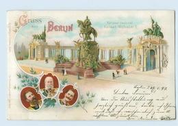 N2271/ Gruß Aus Berlin National-Denkmal Kaiser Wilhelm I. Adel Litho AK 1897 - Spandau