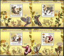 A{263} Guinea Bissau 2009 Butterflies Medical Plants 4 S/S Deluxe MNH** - Guinea-Bissau