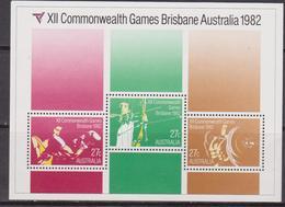 Australia Commonwelth Games Sheet Set MNH - 1980-89 Elizabeth II