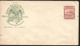 J) 1895 MEXICO, POSTAL STATIONARY, MEXICAN NATIONAL EXPRESS, FRANCO FOR CORRESPONDENCE, FOR 1 OZ ENVELOPES, EAGLE, MAIL - Mexico