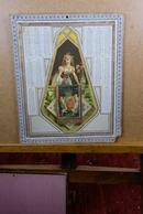 """Calendario-Calendarietto-Calendrier-Kalender-Calendar-Anno1881""""Ragazza-drappo-corona-balcone""""SU CARTONCINO Original 100% - Calendari"""