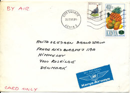 Kenya Cover Sent Air Mail To Denmark City Square 20-12-1997 Topic Stamps - Kenya (1963-...)