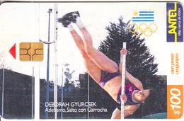 URUGUAY - Olympic Team Of Uruguay, Deborah Gyurcsek/Pole Vault(142a), Tirage 80000, 09/00, Used - Jeux Olympiques