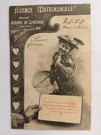 CPA, Agence Matrimoniale Madame Aurore De Liménay, Directrice, Paris Rue Du Paradis 169,écrite En 1904, Timbre - Pubblicitari