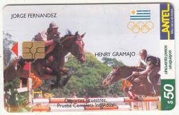 URUGUAY - Olympic Team Of Uruguay, Jorge Fernandez-Henry Gramajo/Deportes Ecuestres(140a), 09/00, Used - Jeux Olympiques