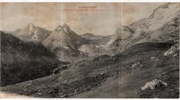 Carte Panoramique Triple Format : Cirque De Troumouse, Port De La Canaou (Labouche Frères, Toulouse, N°18) - France