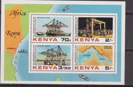 Kenia Map Industry Containe Terminal  Set MNH - Geografia