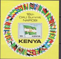 Kenia Bandiere Flags OUA Nairobi Set MNH - Francobolli