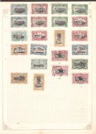 CONGO BELGE Lot D' Anciens - Une Page D'album. Train, éléphants, Palmier Etc ... - 1894-1923 Mols: Used