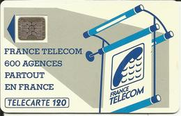 Télécarte 120 U , FRANCE TELECOM , 600 Agences Partout En FRANCE , Voir Scans - Frankrijk