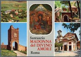 °°° Cartolina N.102 Santuario Madonna Divino Amore Vedutine Viaggiata °°° - Roma (Rome)