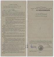 Autorisation De Faire Circuler Un Ensemble De Véhicules Agricoles Comprenant 2 Remorques Champenay 1959 - Documentos Históricos
