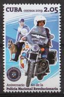 Cuba 2019 60th Anniversary Of National Police 1v MNH - Motos