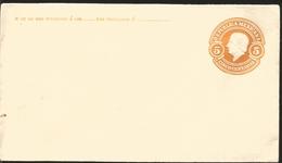 J) 1910 MEXICO, POSTAL STATIONARY, HIDALGO, 5 CENTS ORANGE, XF - Mexico