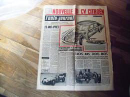 L'auto Journal 1952 N° 55 LA NOUVELLE 10 CV CITROEN ! ETAIT CE LE PROTOTYPE DE LA DS 19 ? - Auto