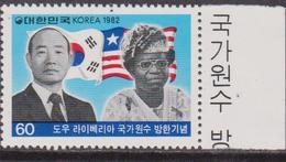Korea South - Liberia President Visit To Korea Set MNH / Flags Leaders - Francobolli