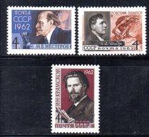 XP4168 - RUSSIA URSS 1962 , Unificato Serie  N.  2553/2555  ***  MNH - 1923-1991 URSS
