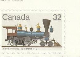 Canada 32 Cent Stamp Toronto 4-4-0 Type / Type Torontto 4-4-0 - Stamps (pictures)