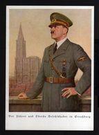 T195-GERMAN EMPIRE-PROPAGANDA POSTCARD ADOLF HITLER.1944.WWII.Lorchinge,Hoffmann.DEUTSCHES REICH.POSTKARTE.Carte Postale - Briefe U. Dokumente
