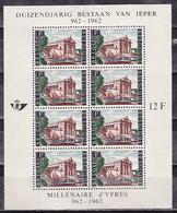 Belgium, 1962, 1000 Years Of The City Of Ypres, Minisheet Block - Belgien