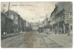 CPA JAMBES, TRAM TRAMWAY RUE DES ACACIAS, PROVINCE DE NAMUR, BELGIQUE - Namur