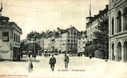 ST GALLEN THEATERPLATZ Suiza Switzerland Suisse Schweiz - SG St-Gall