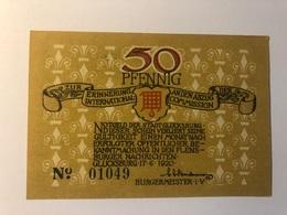 Allemagne Notgeld Glucksburg 50 Pfennig - Collections