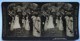 PHOTO STEREOSCOPIC STEREO THE BLESSING WEDDING 1902. - Stereo-Photographie