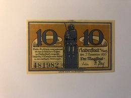Allemagne Notgeld Halberstadt 10 Pfennig - Collections