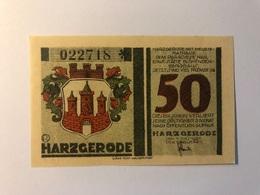 Allemagne Notgeld Hartzgerode 50 Pfennig - Collections