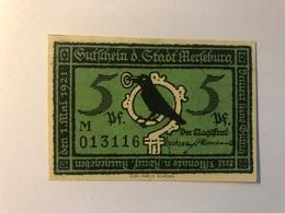 Allemagne Notgeld Merseburg 5 Pfennig - Collections
