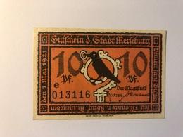 Allemagne Notgeld Merseburg 10 Pfennig - Collections