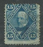 Timbre Argentine Yvt N° 20 Bleu - 1858-1861 Confédération