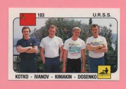 Figurina Panini 1988 N° 103 - URRS - Kotko, Ivanov, Kiniakin, Dosenko - Canottaggio - Canottaggio