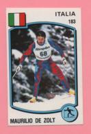 Figurina Panini 1988 N° 183 - Maurilio De Zolt - Sci - Sport Invernali
