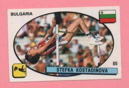 Figurina Panini 1988 N° 85 - Stefka Kostadinova, Bulgaria - Atletica