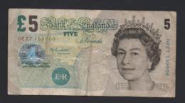 Banconota Gran Bretagna - 5 Pounds, 2002 (circolata) - 1952-… : Elizabeth II