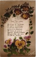 CPA FLEURS DANS LA SERIE LES FLEURS D AMOUR  = LA PENSEE - Fleurs