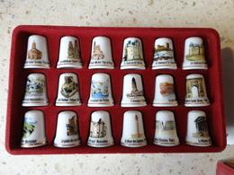 DE A COUDRE EN PORCELAINE BOITE COMPLETE DE 15 DES - Autres Collections