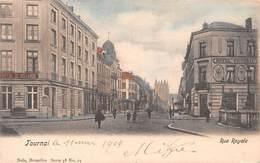 Tournai - Rue Royale 1904 Avec Hôtel De Hollande Et Hôtel Victoria - Tournai