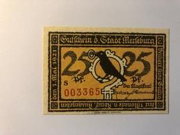 Allemagne Notgeld Merseburg 25 Pfennig - Collections