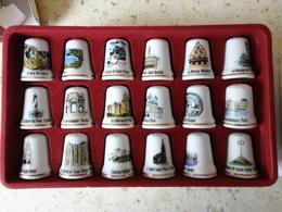DE A COUDRE EN PORCELAINE BOITE COMPLETE DE 15 DES N°2 - Autres Collections